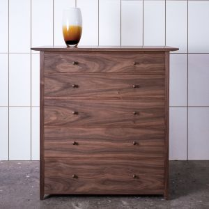 Chest of 5 drawers, walnut